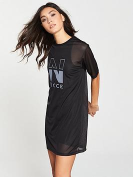 Nicce Mesh T-Shirt Dress - Black
