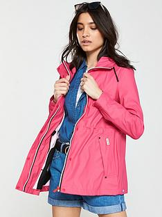 2e34b4ece63 Hunter Lightweight Rubberised Jacket - Bright Pink