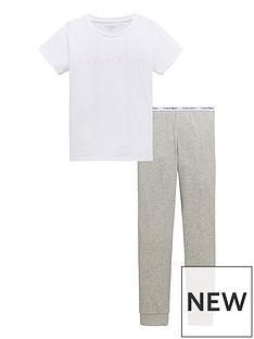 calvin-klein-girls-short-sleeve-pj-set