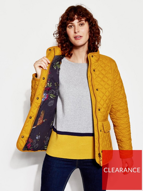 ae6550c4ebe4 Joules Newdale Quilted Coat - Caramel