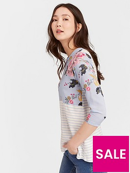 joules-sonya-woven-jersey-mix-34-length-sleeve-top-printed