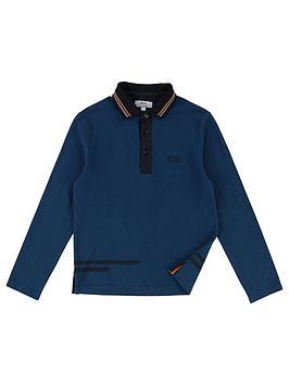 boss-boys-long-sleeve-pique-stripe-collar-polo-shirt-navy