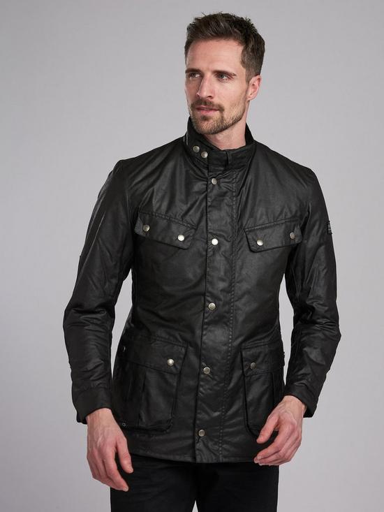 68760e9c7440 Barbour International Duke Wax Jacket - Black