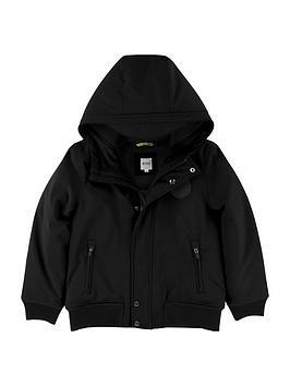 boss-boys-hooded-parka-black