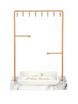 rose-gold-jewellery-stand-and-trinket-tray-gift-set
