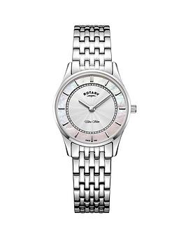 rotary-lb0830007-ultra-slim-silver-and-pink-mother-of-pearl-dial-stainless-steel-bracelet-ladies-watch