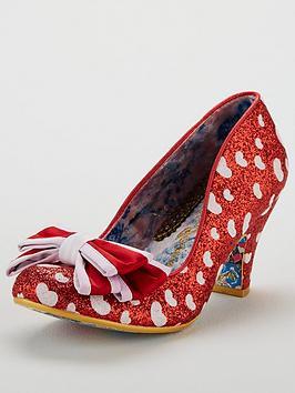 Irregular Choice Ban Joe Heeled Shoe - Red/White