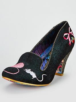 irregular-choice-fuzzy-peg-heeled-shoe-dark-green