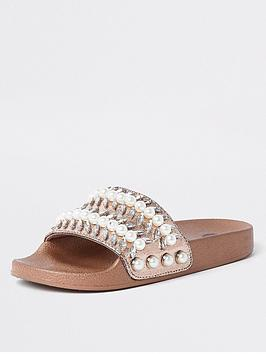 river-island-river-island-embellished-gem-sporty-sliders