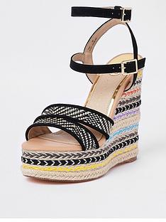 river-island-black-stripe-platform-wedge