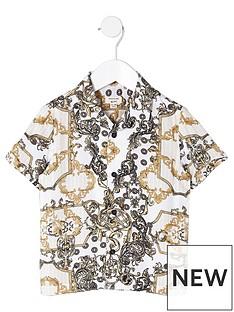 river-island-mini-nbspboys-yellow-chain-print-shirt