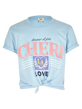 river-island-girls-blue-039cheri039-knot-front-t-shirt