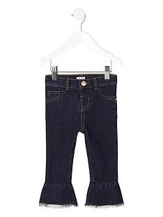 river-island-mini-girls-dark-blue-mid-rise-flare-jeans