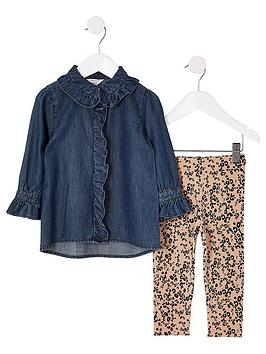 river-island-mini-girls-denim-shirt-and-leggings-outfit