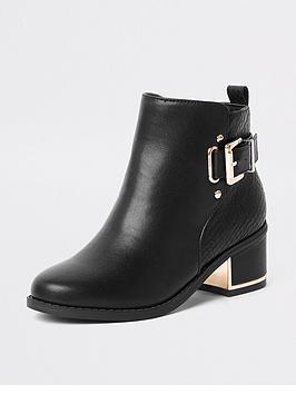 river-island-girls-black-buckle-heeled-boots