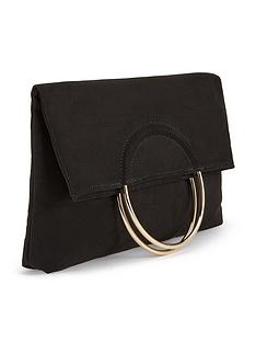 miss-selfridge-metal-circle-handle-clutch-blacknbsp