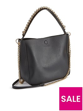 miss-selfridge-chain-detail-shoulder-bag-blacknbsp