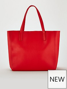 miss-selfridge-oversized-tote-bag-red