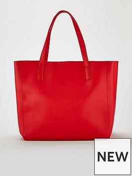 miss-selfridge-oversized-tote-bag-red