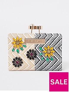 river-island-pearl-cliptop-purse-print
