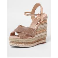 Embellished Wedge   Pink by River Island