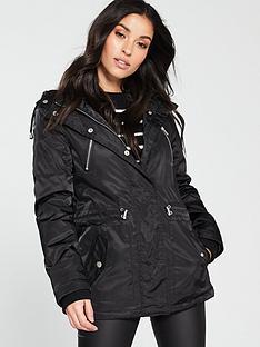 3be819202a672 V by Very Fleece Lined Windcheater Jacket - Black