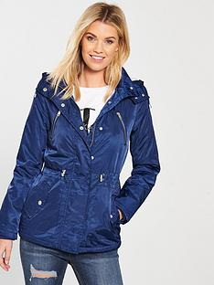 4f14818937e1e V by Very Fleece Lined Windcheater Jacket - Blue