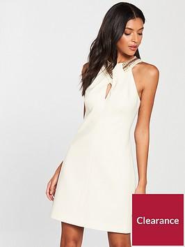karen-millen-jewelled-neckline-dress-ivory