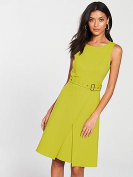 karen-millen-colour-pop-dress-lime