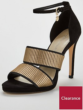 karen-millen-strappy-sandal-blackgoldnbsp