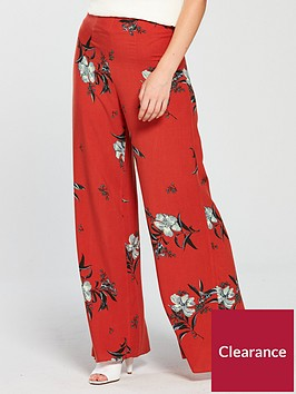 miss-selfridge-petite-wide-leg-trouser-printed