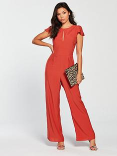 miss-selfridge-frill-cape-culotte-jumpsuit-rednbsp