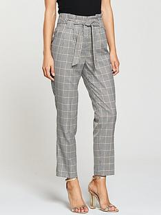 miss-selfridge-check-paperbag-trouser
