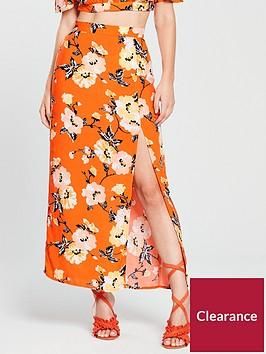 miss-selfridge-miss-selfridge-petite-orange-printed-maxi-skirt