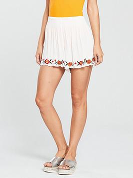 miss-selfridge-embroidered-short