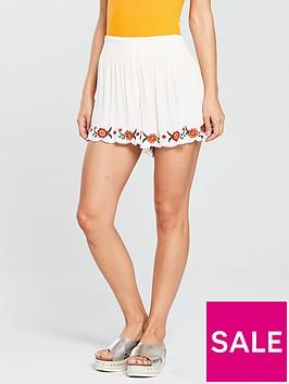 miss-selfridge-embroidered-short