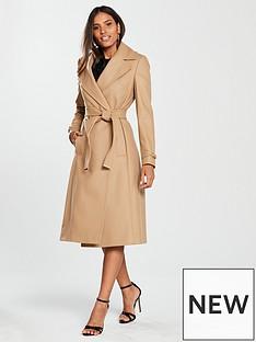karen-millen-wool-wrap-coat-camel