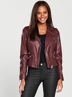 karen-millen-coloured-leather-jacket