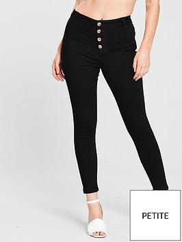 miss-selfridge-button-corset-skinny-jean-blacknbsp