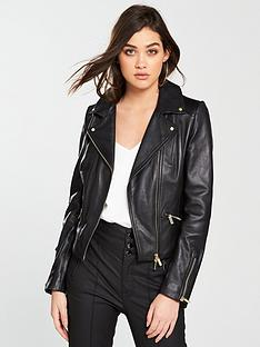 karen-millen-leather-biker-jacket