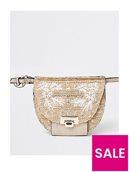 river-island-neutral-woven-bumbag