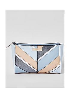 river-island-panel-zip-top-make-up-bag