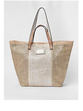 river-island-river-island-oversized-beach-bag-neutral