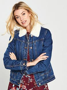 v-by-very-faux-fur-lined-denim-trucker-jacket-indigo