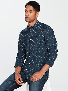 v-by-very-long-sleeved-printed-oxford-shirt-navy