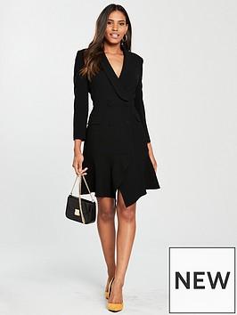 karen-millen-button-detail-tux-dress
