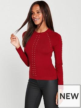 karen-millen-stud-detail-knitted-jumper