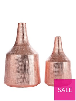 ideal-home-set-of-2-scratch-effect-vases