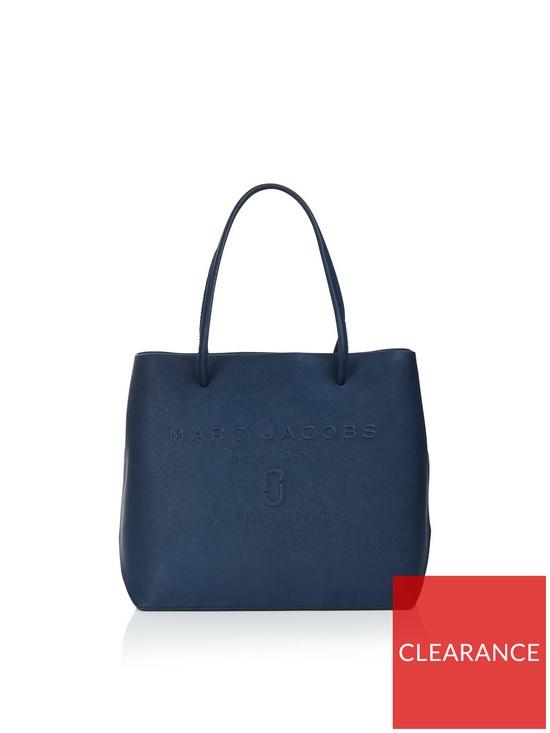 620a5e73083f MARC JACOBS Logo Shopper East West Tote Bag - Navy