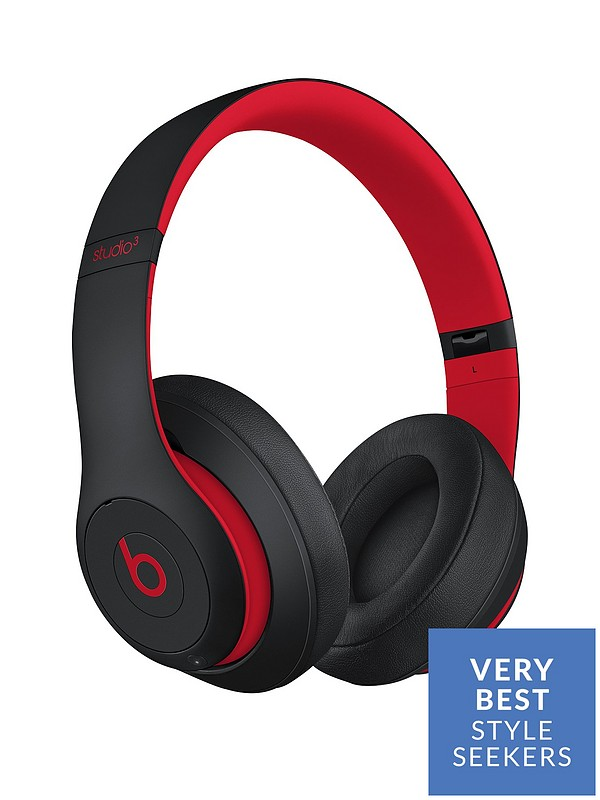 869d3faef3f Beats by Dr Dre Studio 3 Wireless Headphones – The Beats Decade Collection, Defiant  Black-Red